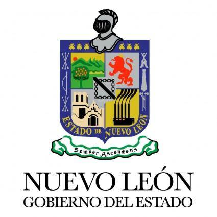free vector Gobierno del estado de nuevo leon
