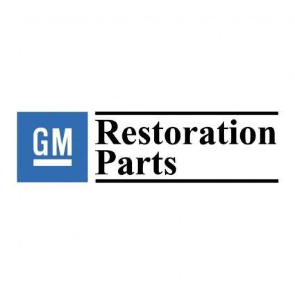 free vector Gm restoration parts