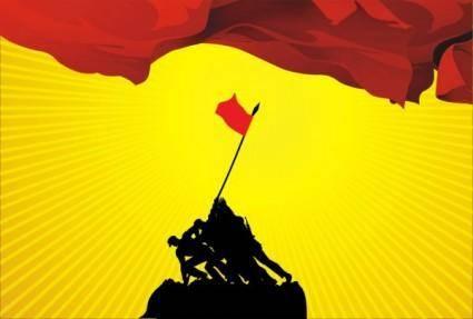 Changzheng red flag vector