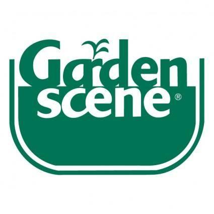 free vector Garden scene