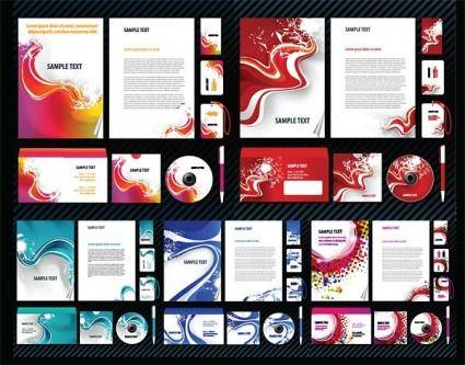 Dynamic themes simple vi template vector