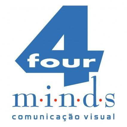 free vector Four minds comunicacao visual