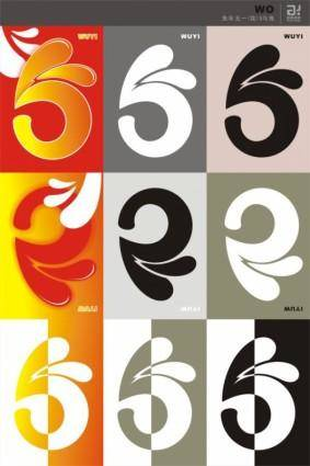 free vector 51 art font vector