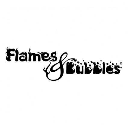 free vector Flames bubbles