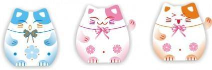 free vector Japanese lucky cat