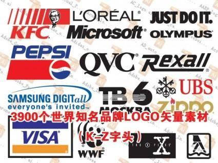 free vector 3900 logo vector worldrenowned brands under the set kz prefix