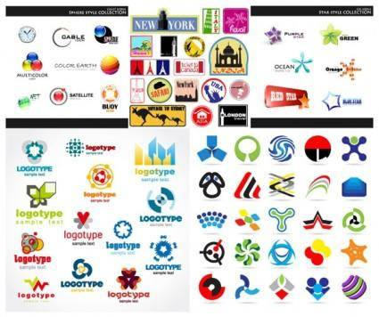 Set of vector graphic logo