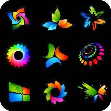 free vector Beautiful vector graphics logo