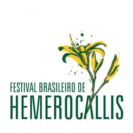 free vector Festival brasileiro de hemerocallis