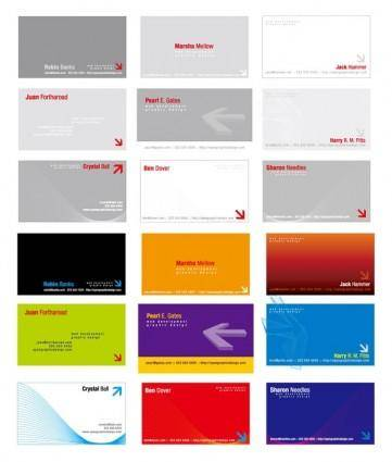 free vector 2 sets of threedimensional arrow theme business card template