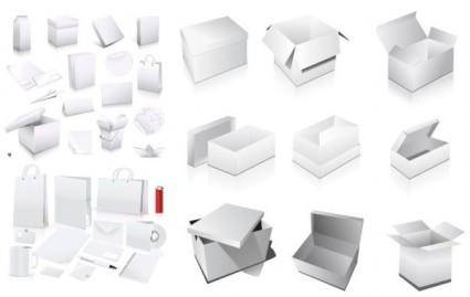 free vector Vector elements of the blank boxes vi