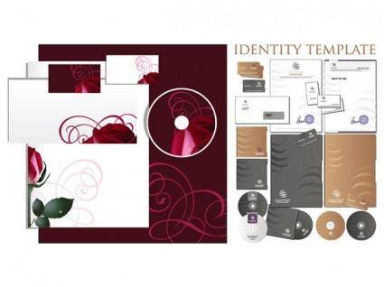 free vector 2 sets of simple enterprise vi template vector