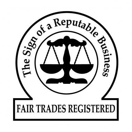 free vector Fair trades registered