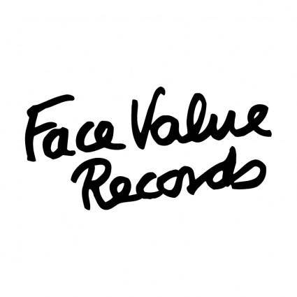 free vector Face value records