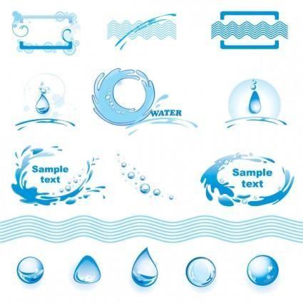 Water theme logo graphics vector