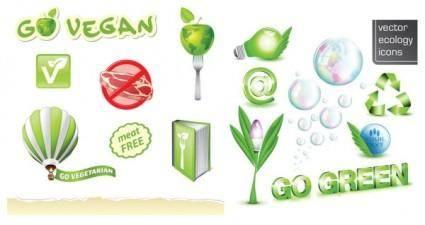 free vector Green logo vector