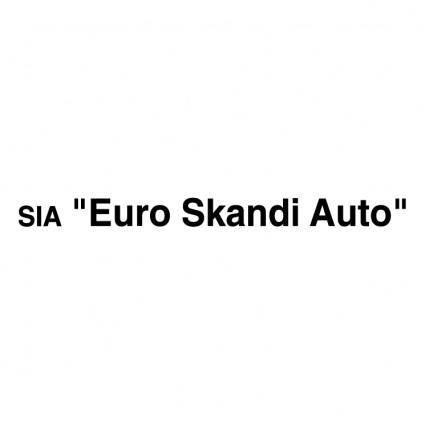free vector Euro skandi auto