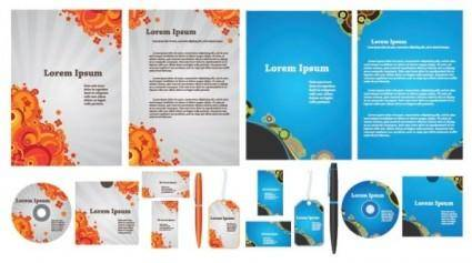 free vector Simple template vector business vi