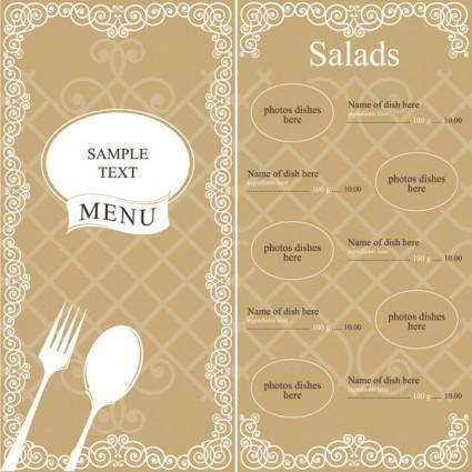 Western shop menu vector