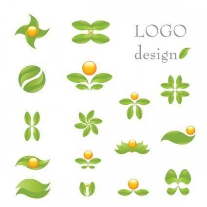 Green theme logo template vector
