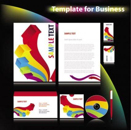 Enterprise vi system template 04 vector