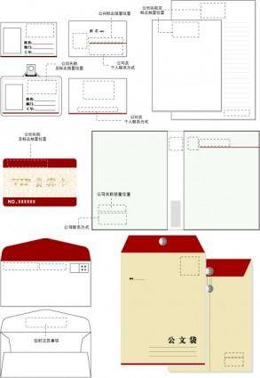 Vi vector template office supplies 2
