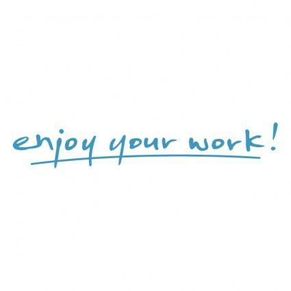 free vector Enjoy your work