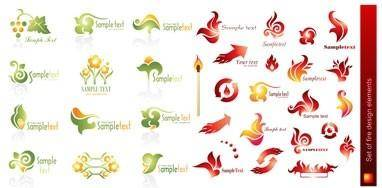 Flame style logo vector