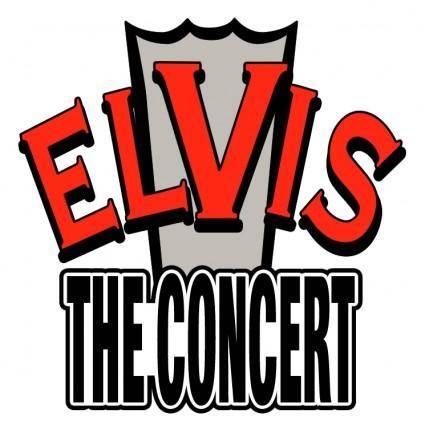 free vector Elvis the concert