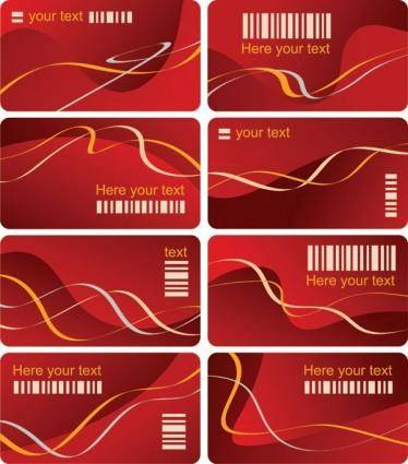 free vector Dynamic lines of the card template vector
