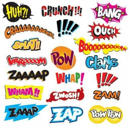 free vector Comics word vector