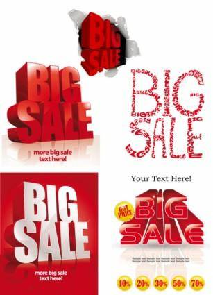 free vector Big bargain font design vector