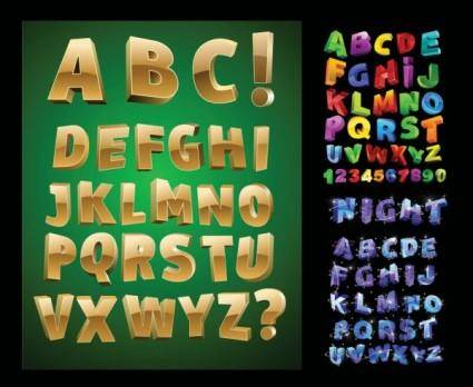 Threedimensional letters vector