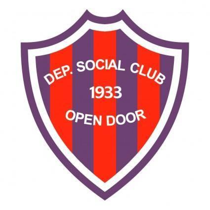 free vector Deportivo social club open door de open door