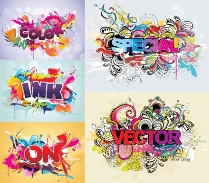 free vector Fashion font design vector