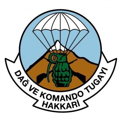 free vector Dag ve komando tugayi hakkari