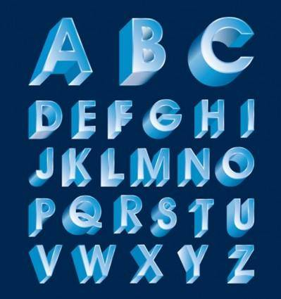 free vector Threedimensional letters design series 07 vector