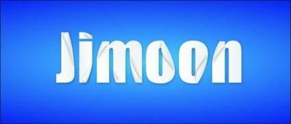 free vector Jimoon origami word vector