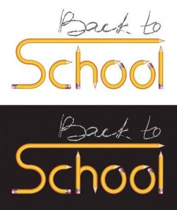 free vector Pencil vector composed of school