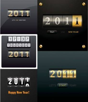 2011 rolling subtitles vector