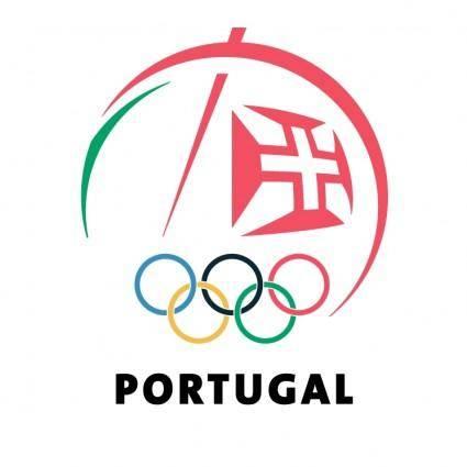 free vector Comite olimpico de portugal