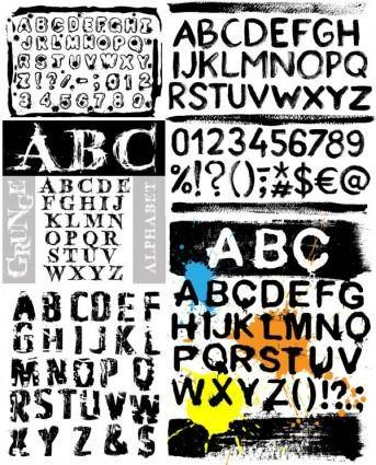 free vector Ink letters vector