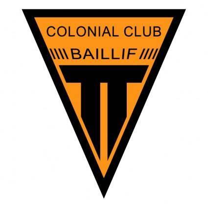 free vector Colonial club baillif
