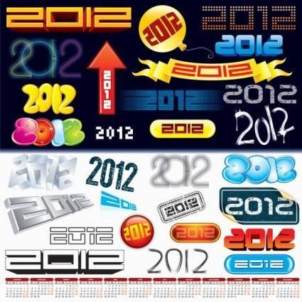free vector 2012 creative arts word vector