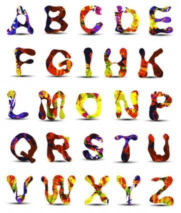 free vector Font design series 41 vector