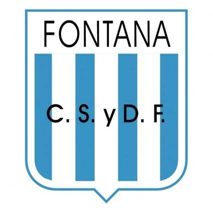 free vector Club social y deportivo fontana de fontana