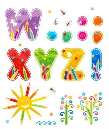 Font design series 46 vector