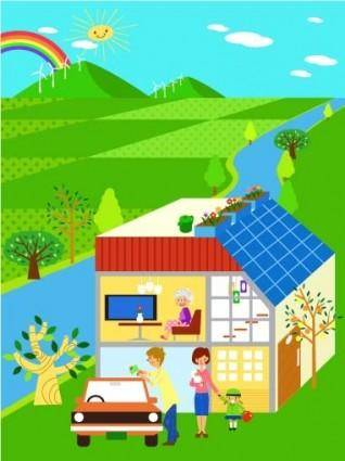 Children environment vector 5