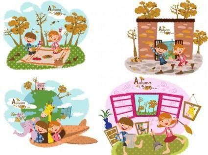 Autumn tale vector 5
