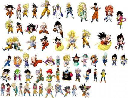 free vector Dragon ball character vector